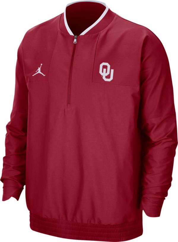 Jordan Men's Oklahoma Sooners Crimson Football Sideline Coach Lightweight Jacket product image