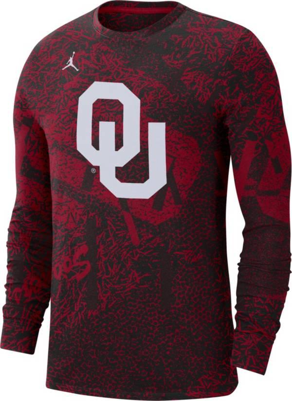 Jordan Men's Oklahoma Sooners Crimson Football Team Issue Practice Long Sleeve T-Shirt product image