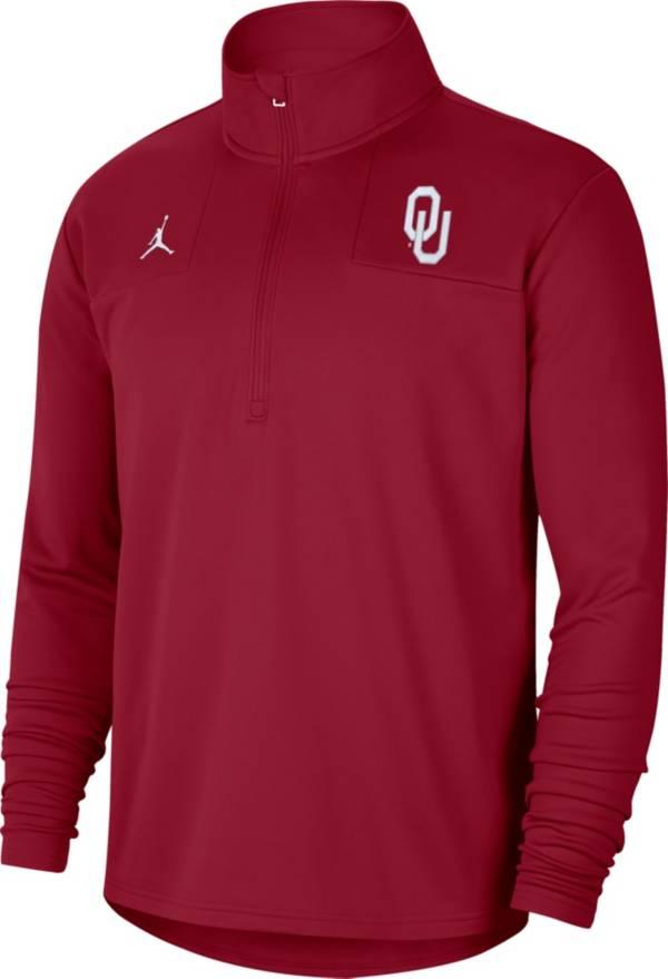 Jordan Men's Oklahoma Sooners Crimson Team Issue Coaches Half-Zip product image