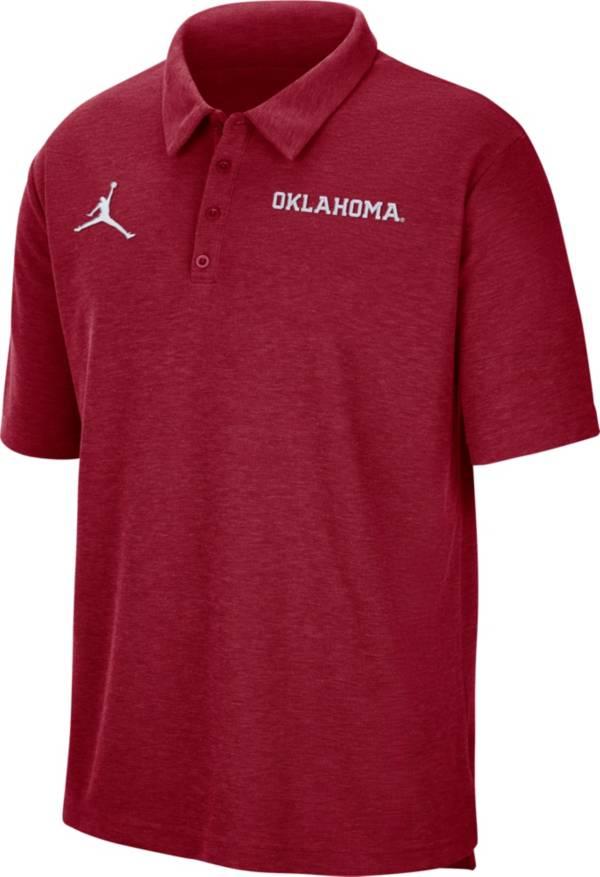 Jordan Men's Oklahoma Sooners Crimson Football Team Issue Polo product image