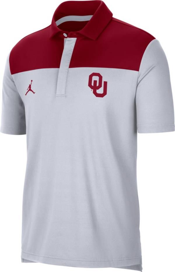 Jordan Men's Oklahoma Sooners Elevated Team Issue White Polo product image