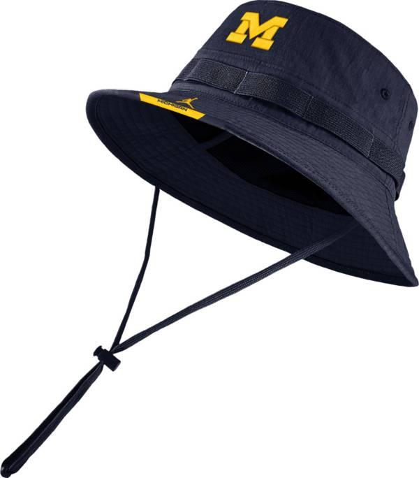 Jordan Men's Michigan Wolverines Blue Dri-FIT Football Sideline Bucket Hat product image