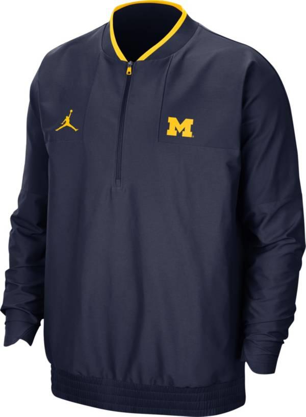 Jordan Men's Michigan Wolverines Blue Football Sideline Coach Lightweight Jacket product image