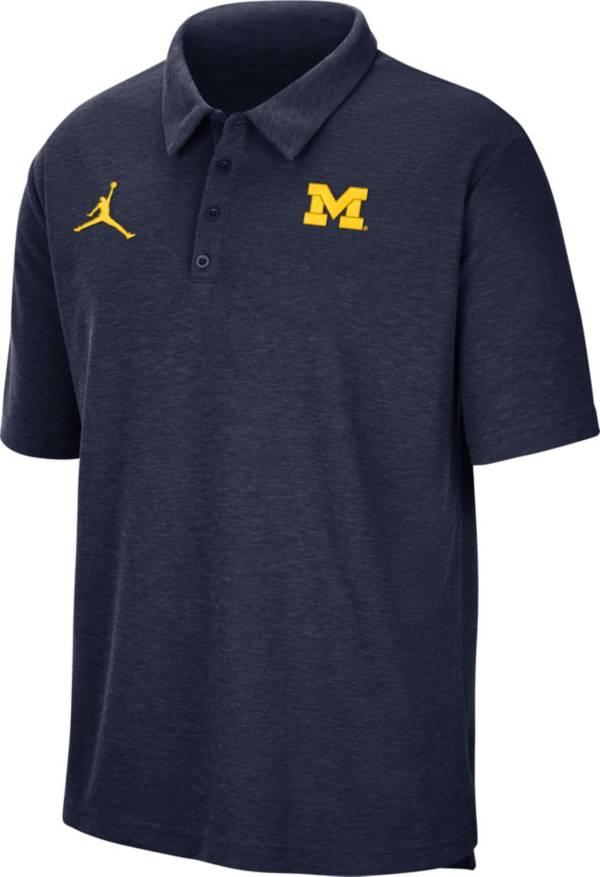 Jordan Men's Michigan Wolverines Blue Football Team Issue Polo product image