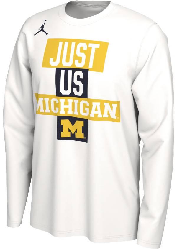 Jordan Men's Michigan Wolverines 'Just Us' Bench Long Sleeve T-Shirt product image