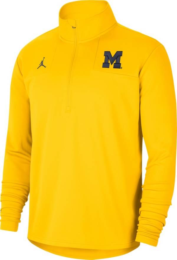 Jordan Men's Michigan Wolverines Maize Team Issue Coaches Half-Zip product image