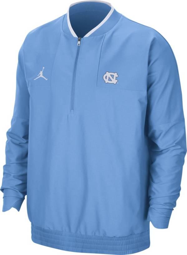 Jordan Men's North Carolina Tar Heels Carolina Blue Football Sideline Coach Lightweight Jacket product image