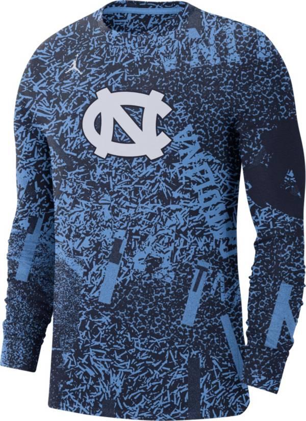 Jordan Men's North Carolina Tar Heels Carolina Blue Football Team Issue Practice Long Sleeve T-Shirt product image