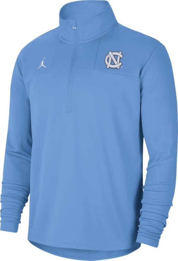 Jordan Men's North Carolina Tar Heels Carolina Blue Team Issue Coaches Half-Zip product image