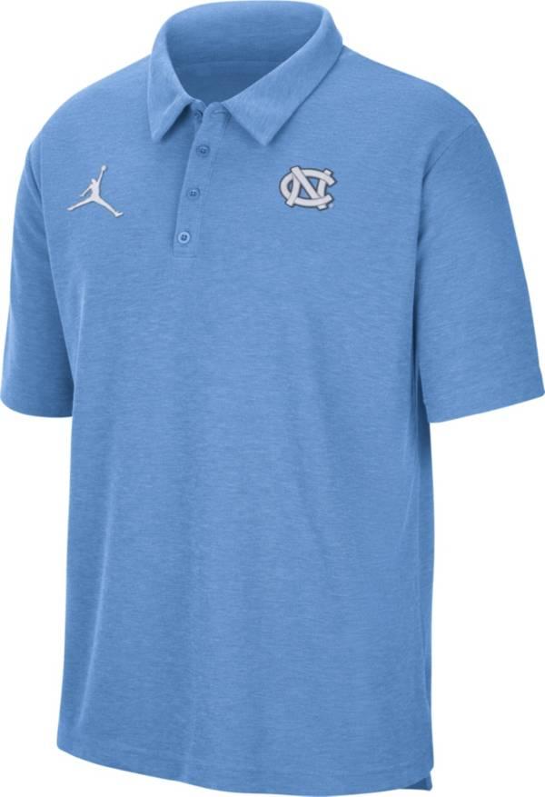 Jordan Men's North Carolina Tar Heels Carolina Blue Football Team Issue Polo product image