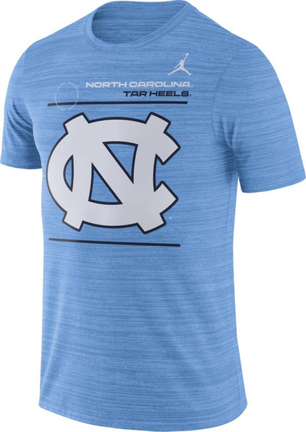 Jordan Men's North Carolina Tar Heels Carolina Blue Dri-FIT Velocity Football Sideline T-Shirt product image