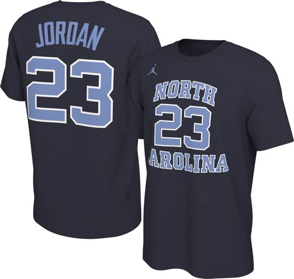 Jordan Men's Michael Jordan North Carolina Tar Heels #23 Navy Basketball Jersey T-Shirt product image