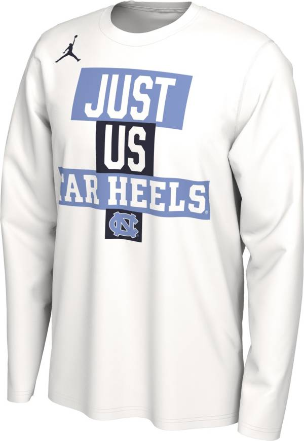 Jordan Men's North Carolina Tar Heels 'Just Us' Bench Long Sleeve T-Shirt product image