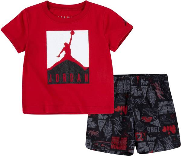Jordan Little Boys' Air Elements T-Shirt and All Over Print Shorts Set product image