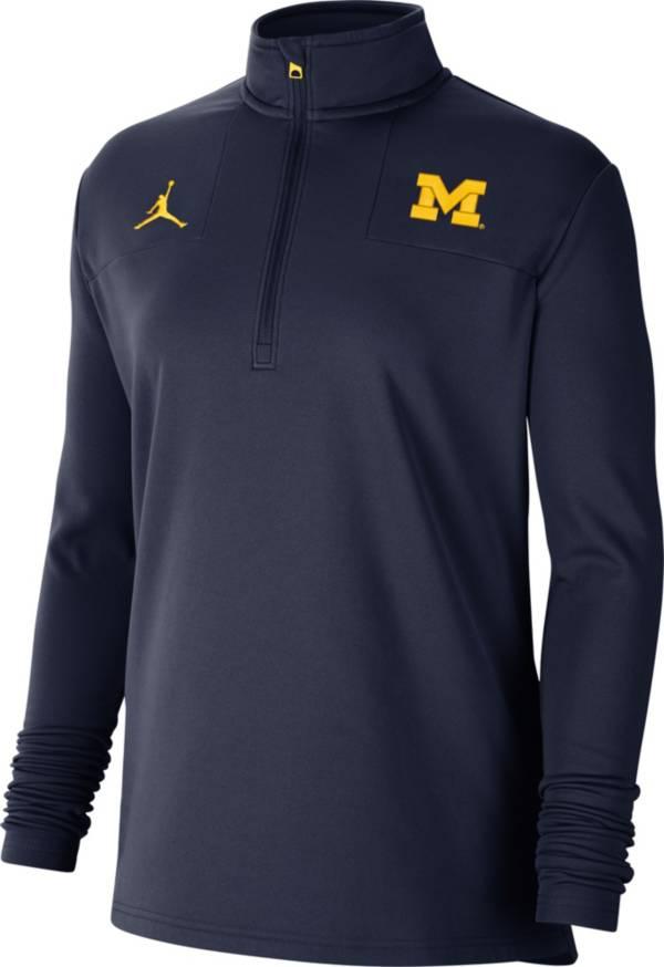 Jordan Women's Michigan Wolverines Blue Team Issue Coaches Half-Zip product image