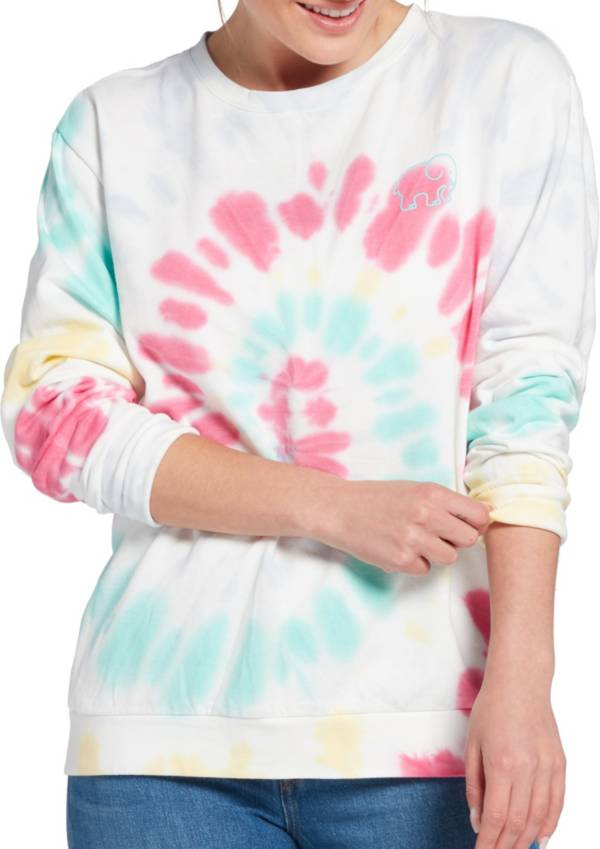 Ivory Ella Women's Heritage Solstice Swirl Tie Dye Oversized Sweatshirt product image