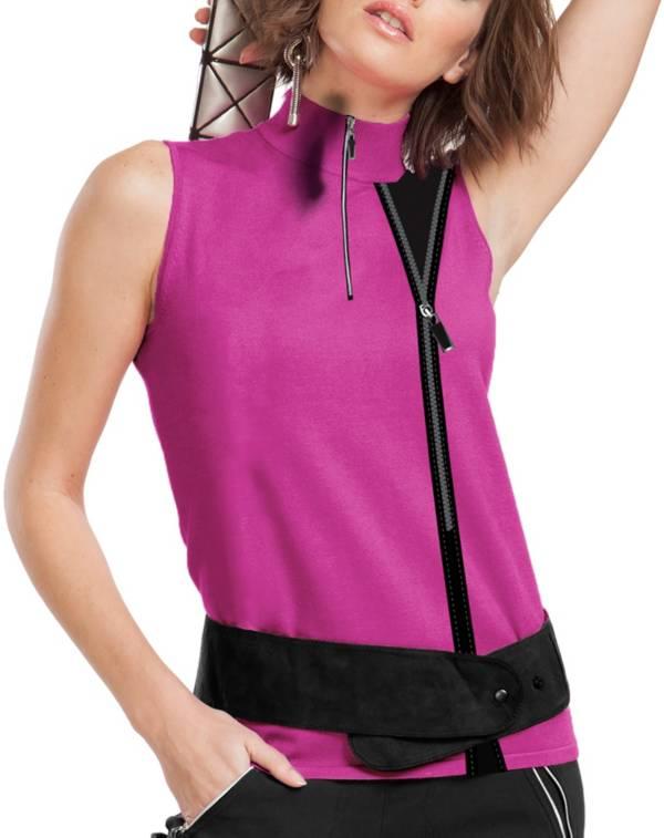 Jamie Sadock Women's Sleeveless Zip Side Pink Polo product image