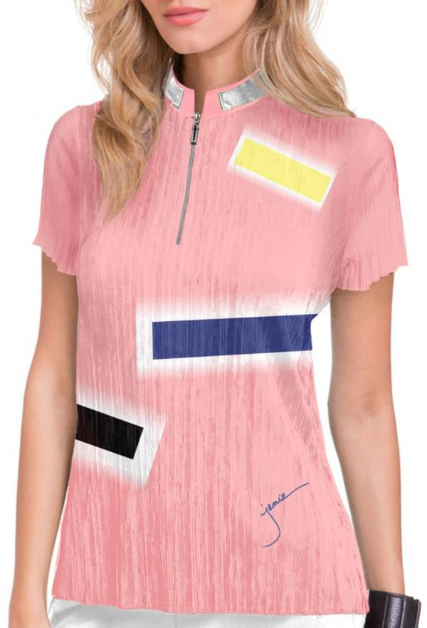 Jamie Sadock Women's Short Sleeve Glow Print Golf Polo product image