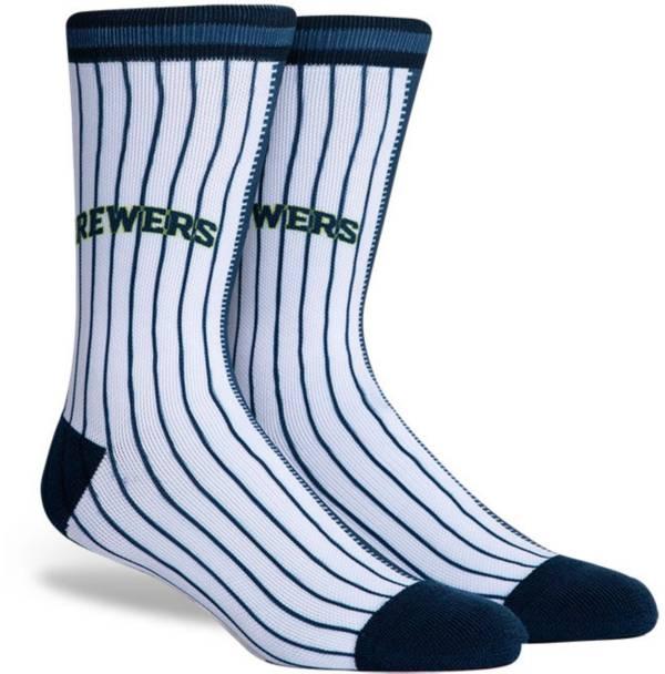 PKWY Milwaukee Brewers Blue Split Crew Socks product image