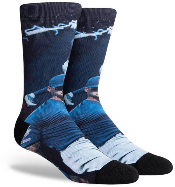PKWY Chicago Cubs Black Javier Baez #9 Crew Socks product image