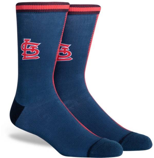 PKWY St. Louis Cardinals Blue Split Crew Socks product image