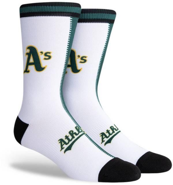 PKWY Oakland Athletics Black Split Crew Socks product image