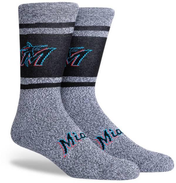PKWY Miami Marlins Black Varsity Crew Socks product image