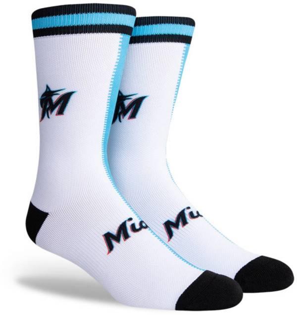 PKWY Miami Marlins Black Split Crew Socks product image