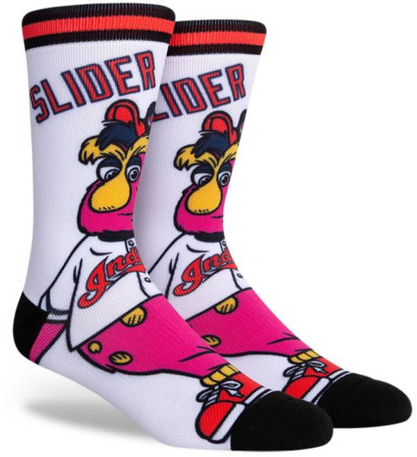 PKWY Cleveland Indians Black Mascot Crew Socks product image