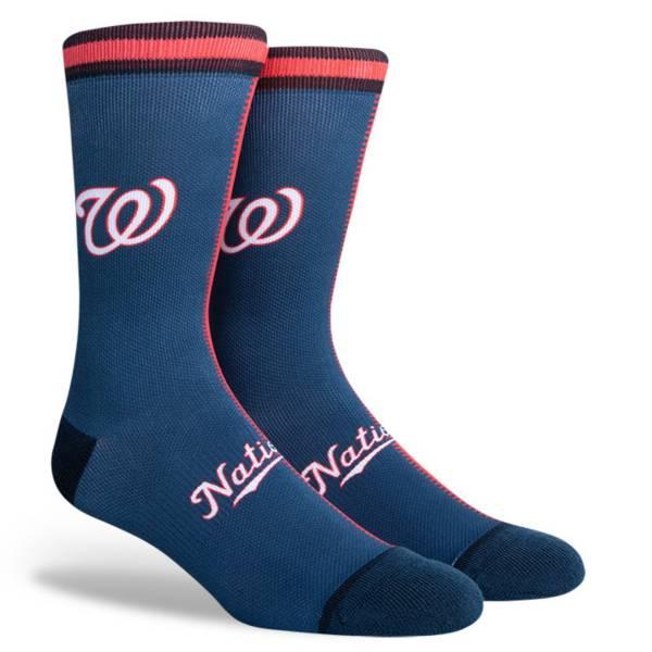 PKWY Washington Nationals Blue Split Crew Socks product image