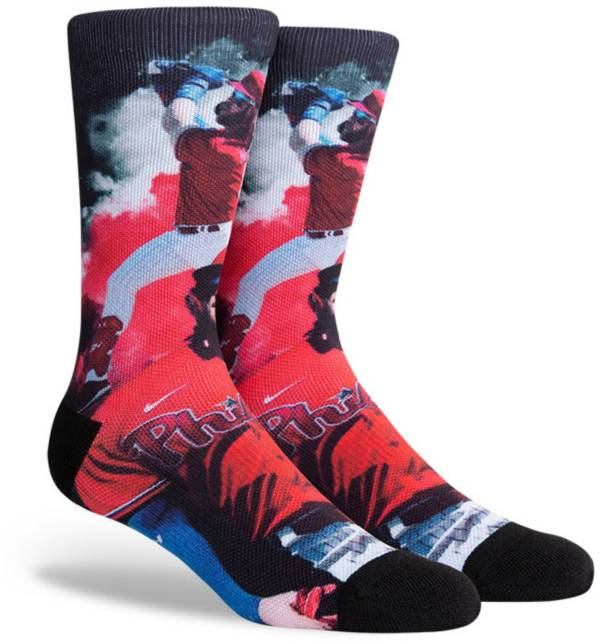 PKWY Philadelphia Phillies Black Bryce Harper #3 Crew Socks product image