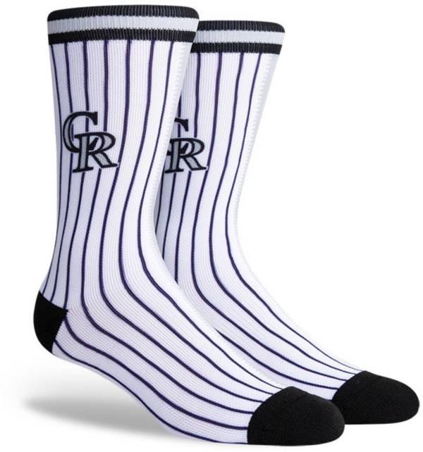 PKWY Colorado Rockies Black Split Crew Socks product image