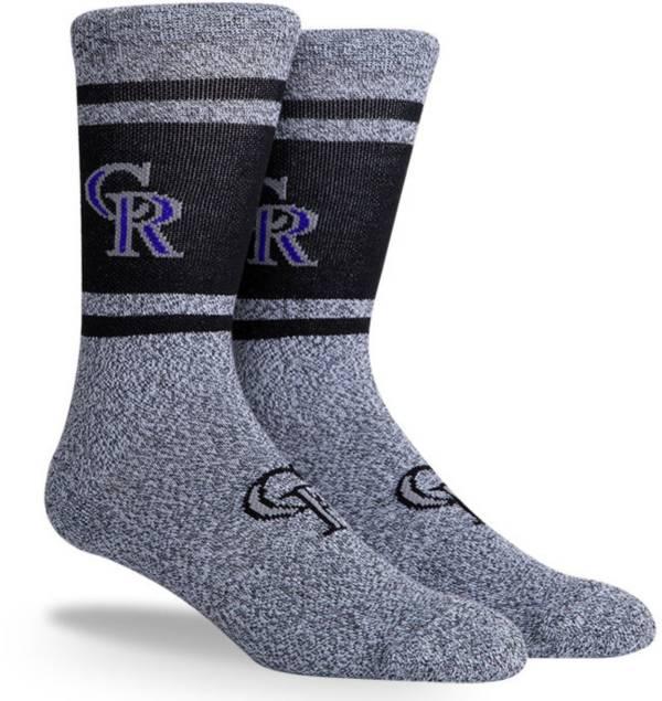 PKWY Colorado Rockies Black Varsity Crew Socks product image