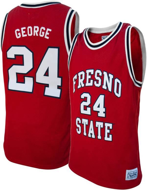 Original Retro Brand Men's Fresno State Bulldogs Paul George #24 Cardinal Replica Basketball Jersey product image