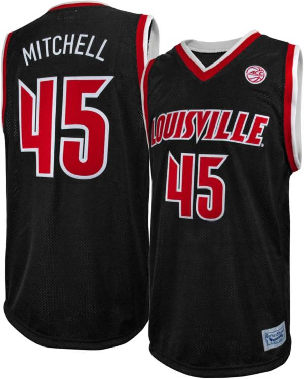 Original Retro Brand Men's Louisville Cardinals Donovan Mitchell #45 Black Replica Basketball Jersey product image