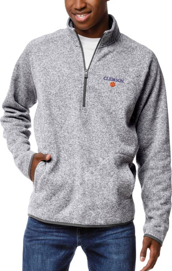 League-Legacy Men's Clemson Tigers Grey Saranac Quarter-Zip Pullover Shirt product image