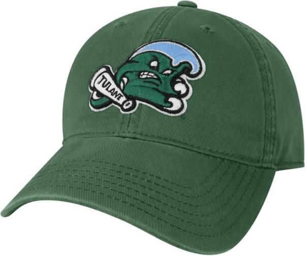 League-Legacy Men's Tulane Green Wave Olive EZA Adjustable Hat product image