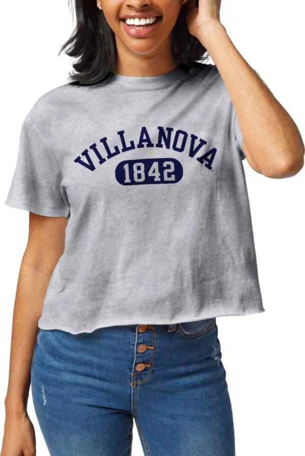 League-Legacy Women's Villanova Wildcats Grey Clothesline Cropped T-Shirt product image