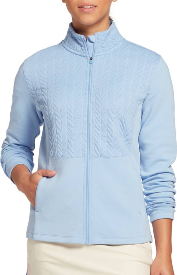 Lady Hagen Women's Cable Knit Full Zip Golf Jacket product image
