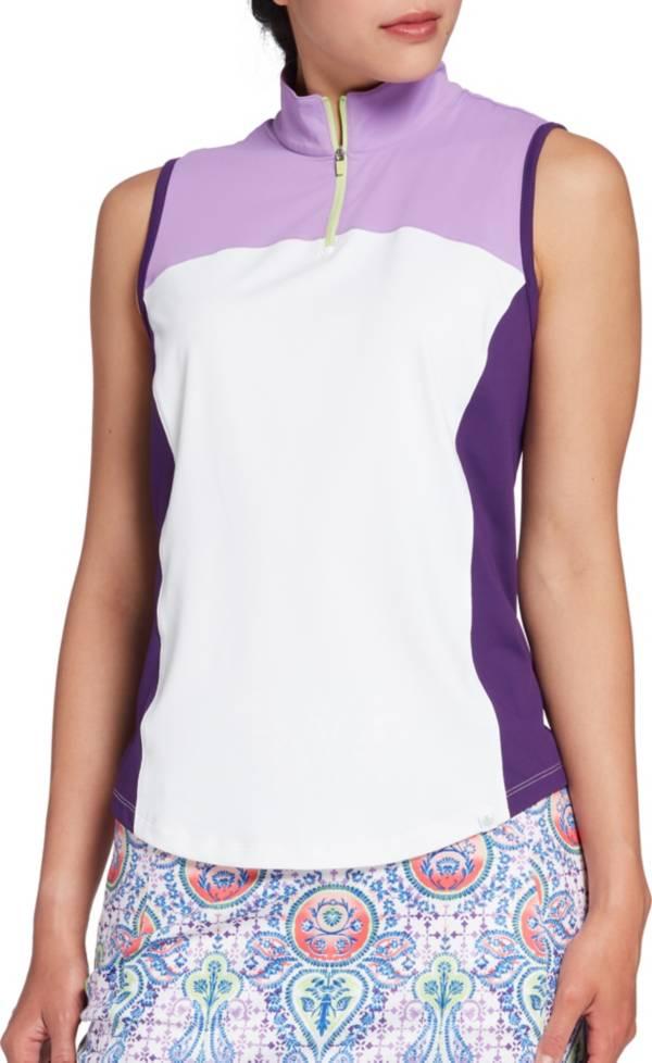 Lady Hagen Women's Paisley Color Block Sleeveless Golf Polo product image