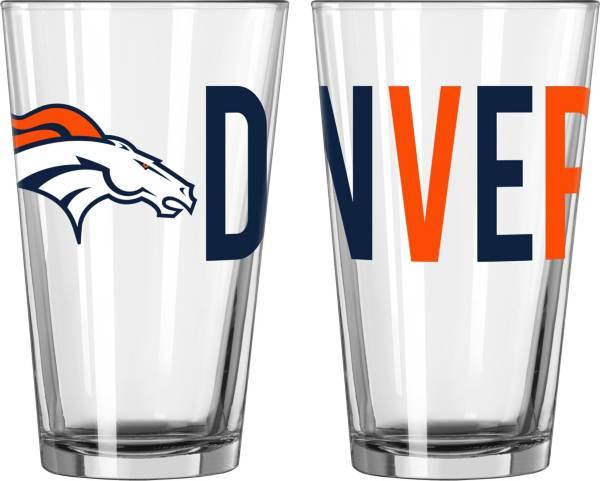 Logo Denver Broncos 16 oz. Pint Glass product image
