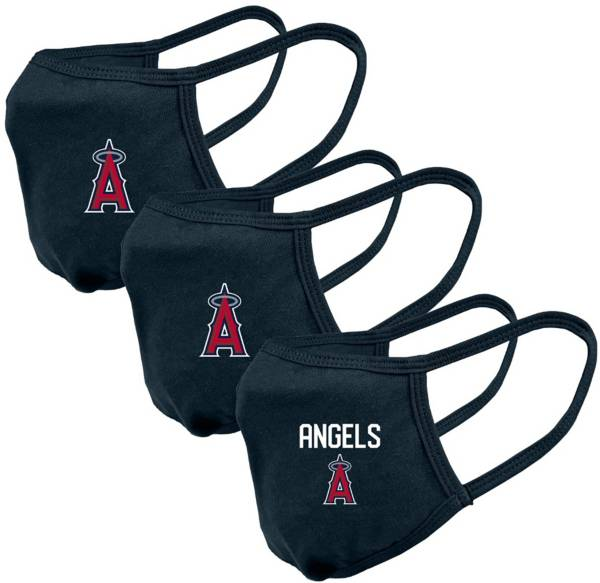 Levelwear Adult Los Angeles Angels Navy 3-Pack Face Coverings product image