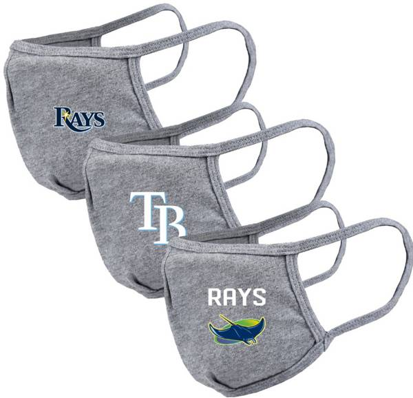 Levelwear Adult Tampa Bay Rays Grey 3-Pack Face Coverings product image