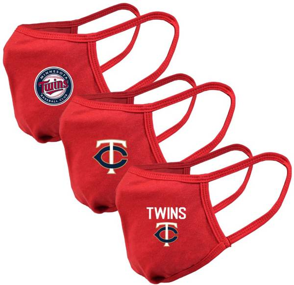 Levelwear Adult Minnesota Twins Red 3-Pack Face Coverings product image