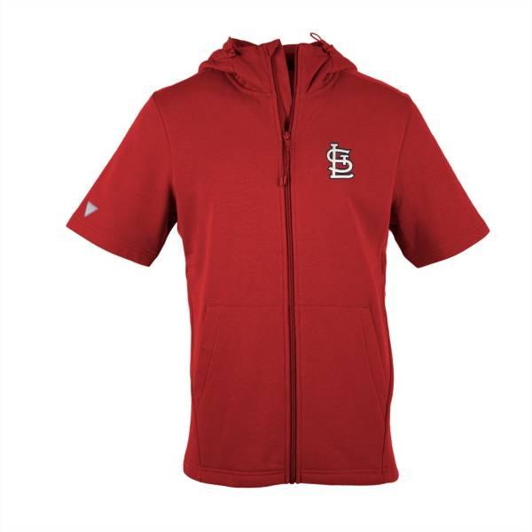 Levelwear Men's St. Louis Cardinals Red Recruit Insignia Core Short Sleeve Fleece Hoodie product image