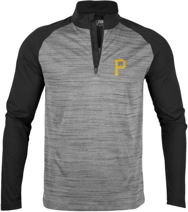 Levelwear Men's Pittsburgh Pirates Grey Vandal Insignia Core ¼ Zip Shirt product image