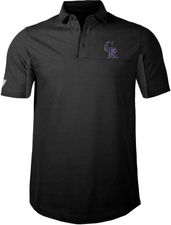 Levelwear Men's Colorado Rockies Black Rival Insignia Core Polo product image