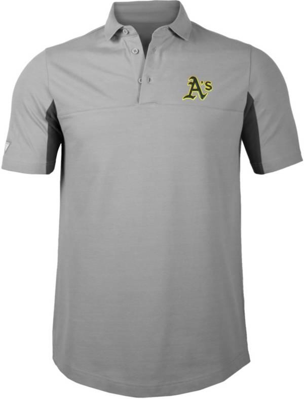 Levelwear Men's Oakland Athletics Gray Rival Insignia Core Polo product image