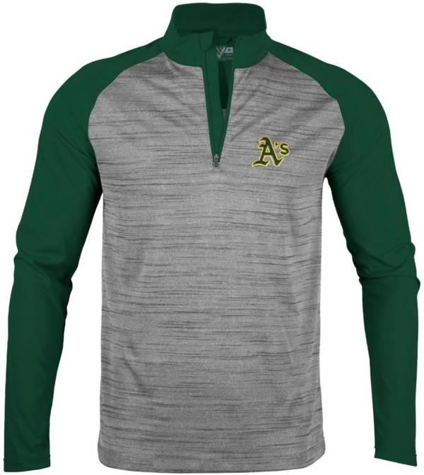 Levelwear Men's Oakland Athletics Grey Vandal Insignia Core ¼ Zip Shirt product image