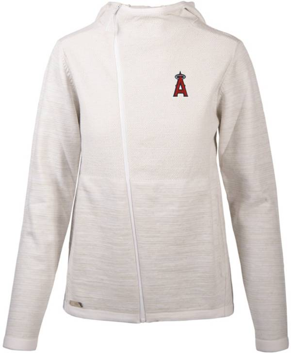 Levelwear Women's Los Angeles Angels White Cora Insignia Core Full Zip Jacket product image